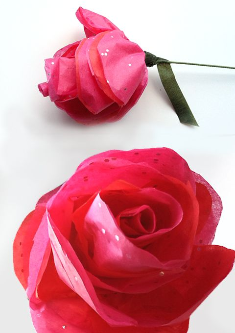 How To Make Simple Tissue Paper Roses Flowers Flowers