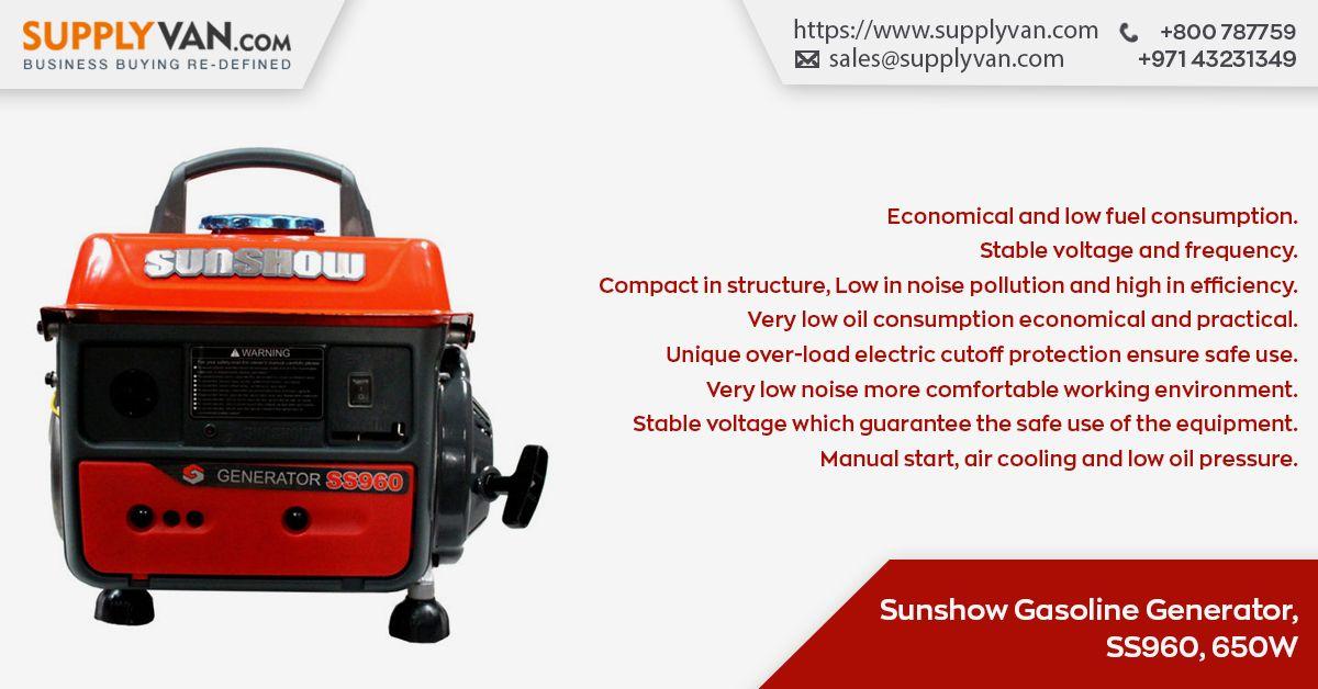 Sunshow Gasoline Generator Ss960 650w Inverter Generators