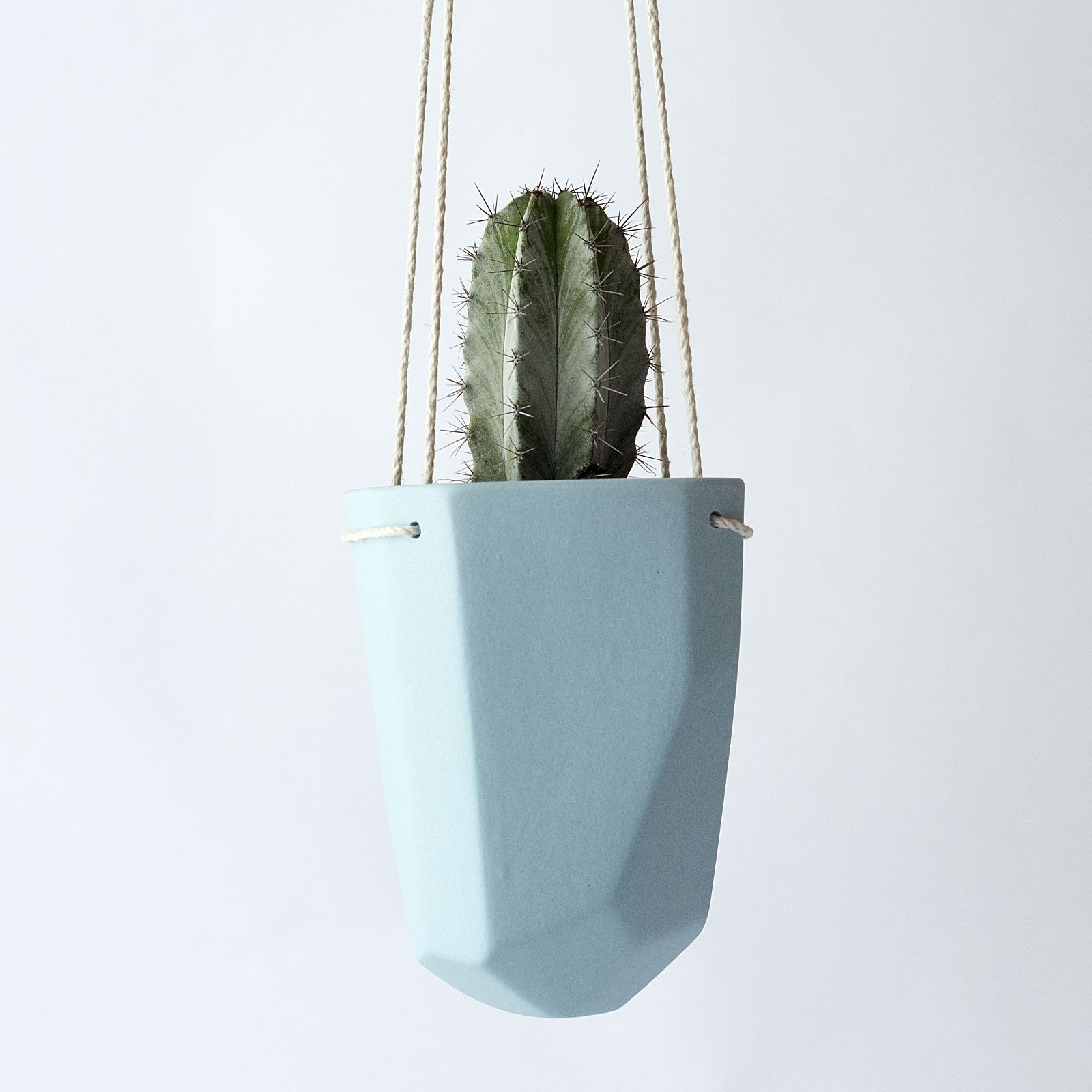 Bean and Bailey Hanging Ceramic planters are made for cute little cacti. online at Billy, Puss and Me.