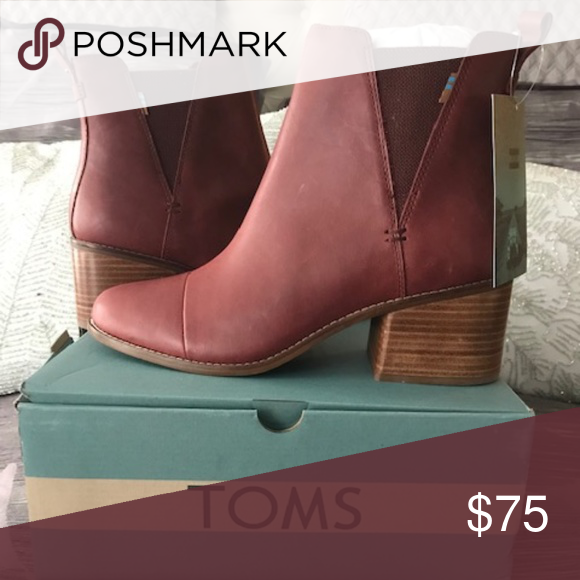 b205ad6f04a TOMS Women s Esme Boots These are a pair of TOMS Women s Esme Boots. The  color is Burnt Henna Leather and they are size 10. TOMS Shoes Ankle Boots    Booties