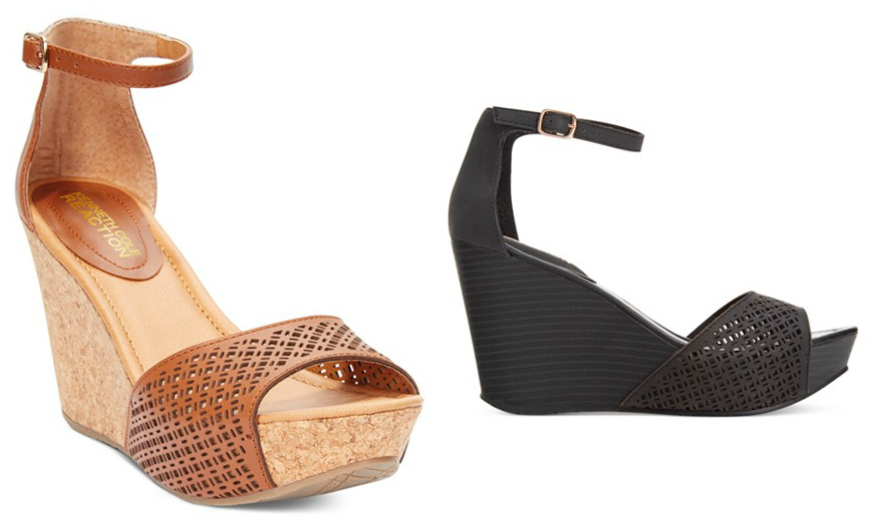 f6ee6ab5e15 Kenneth Cole Reaction Sole Ness Platform Wedge Sandals - Wedges - Shoes -  Macy s