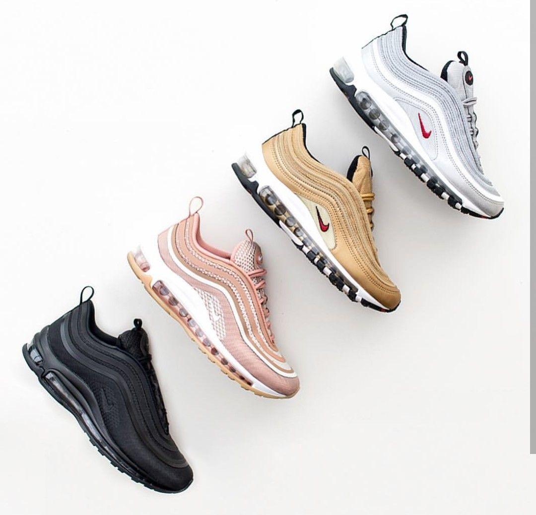Nike Air Max 97 In Schwarz Hellrosa Gold Silber Foto Theliveitup Instagram Nike Air Max Nike Nike Air