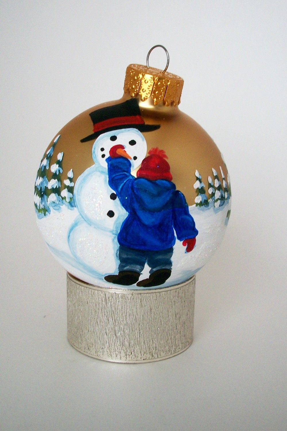 Hand Painted Christmas Ornament My Snowman Painted Christmas Ornaments Diy Christmas Ornaments Hand Painted Ornaments