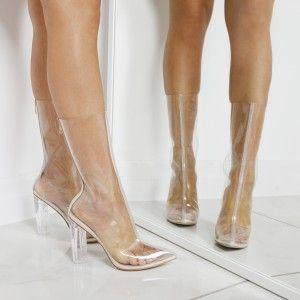0f75eff0303 Tasha Clear Perspex Ankle Boots egoofficial.com