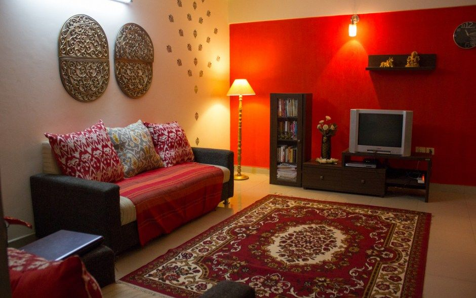 Red Accent wall Interior!! in 2019 Room decor, Living