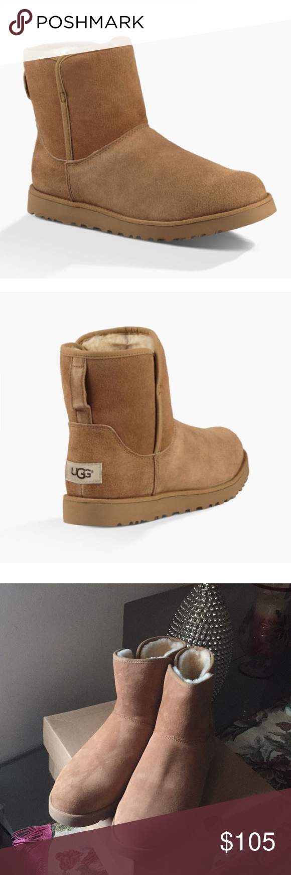 34bd1dd83a9 NEW UGG CORY CHESTNUT Water Resistant💦 Model: 1013437 Slim and ...
