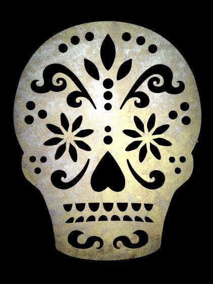Sugar Skull Stencil for Dia de los Muertos   Stuff I have ...