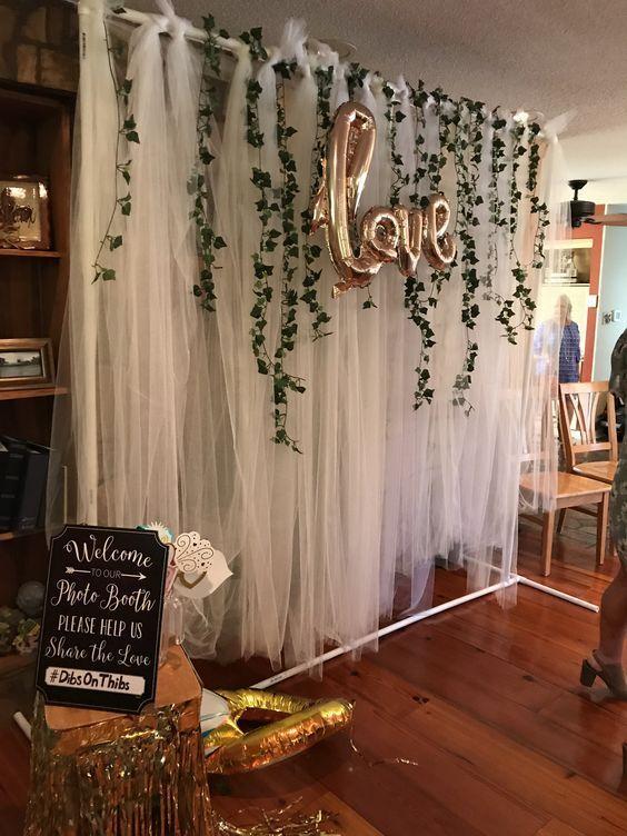schiere Kulisse mit Ballons - Bilder Hochzeit #weddingreception