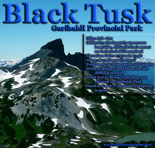 Black tusk in garibaldi park near whistler favorite places black tusk maps hiking and camping information sciox Gallery