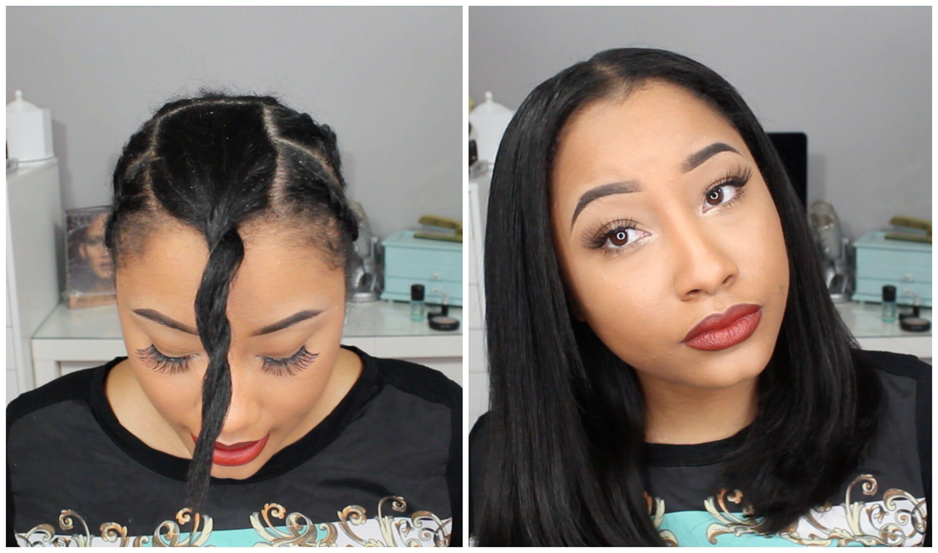 U Part With Natural Leave Out Mini Tutorial Review Jaz Jackson U Part Wig U Part Hair Beauty