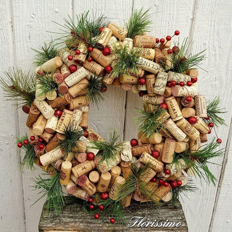 Cork Wreath Wine Corks Christmas Wreaths Holiday