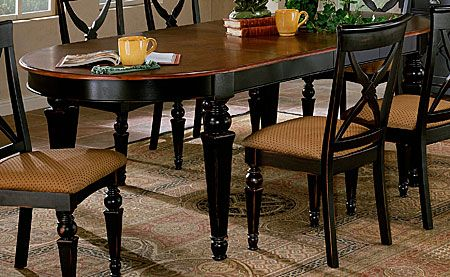 Black Oval Dining Table With Leaf Tyres2c