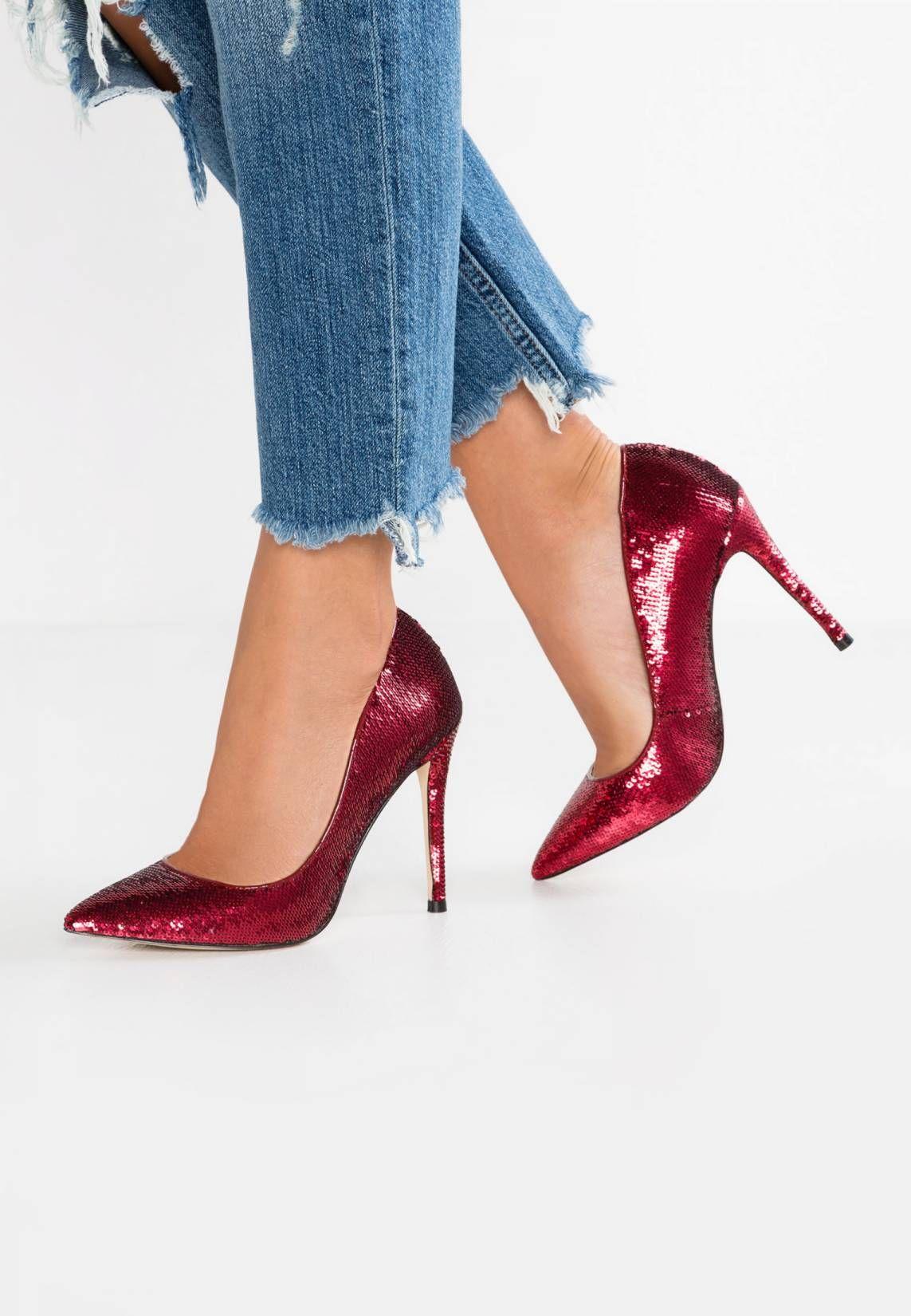 754f880dd5ca24 STESSY - High Heel Pumps - red miscellaneous. Sohle Kunststoff.  Decksohle Leder. Innenmaterial Lederimitat Textil. Details Pailletten.  Obermaterial Textil.