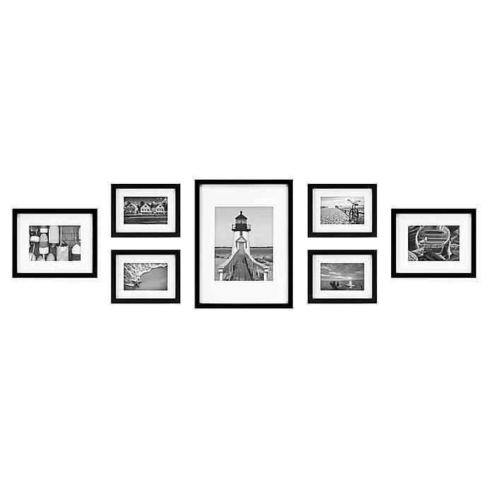 7 Piece Gallery Picture Frame Web In Black Bed Bath Beyond Gallery Wall Frames Picture Frame Gallery Wood Picture Frames