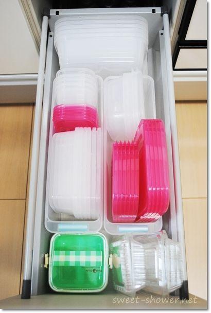 これでok かさばる タッパー をスッキリ収納できるスゴ技 Weboo ウィーブー おしゃれな大人のライフスタイルマガジン キッチン収納術 キッチン 収納 引き出し 食器 収納 引き出し