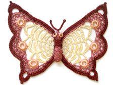 Stunning crochet butterfly