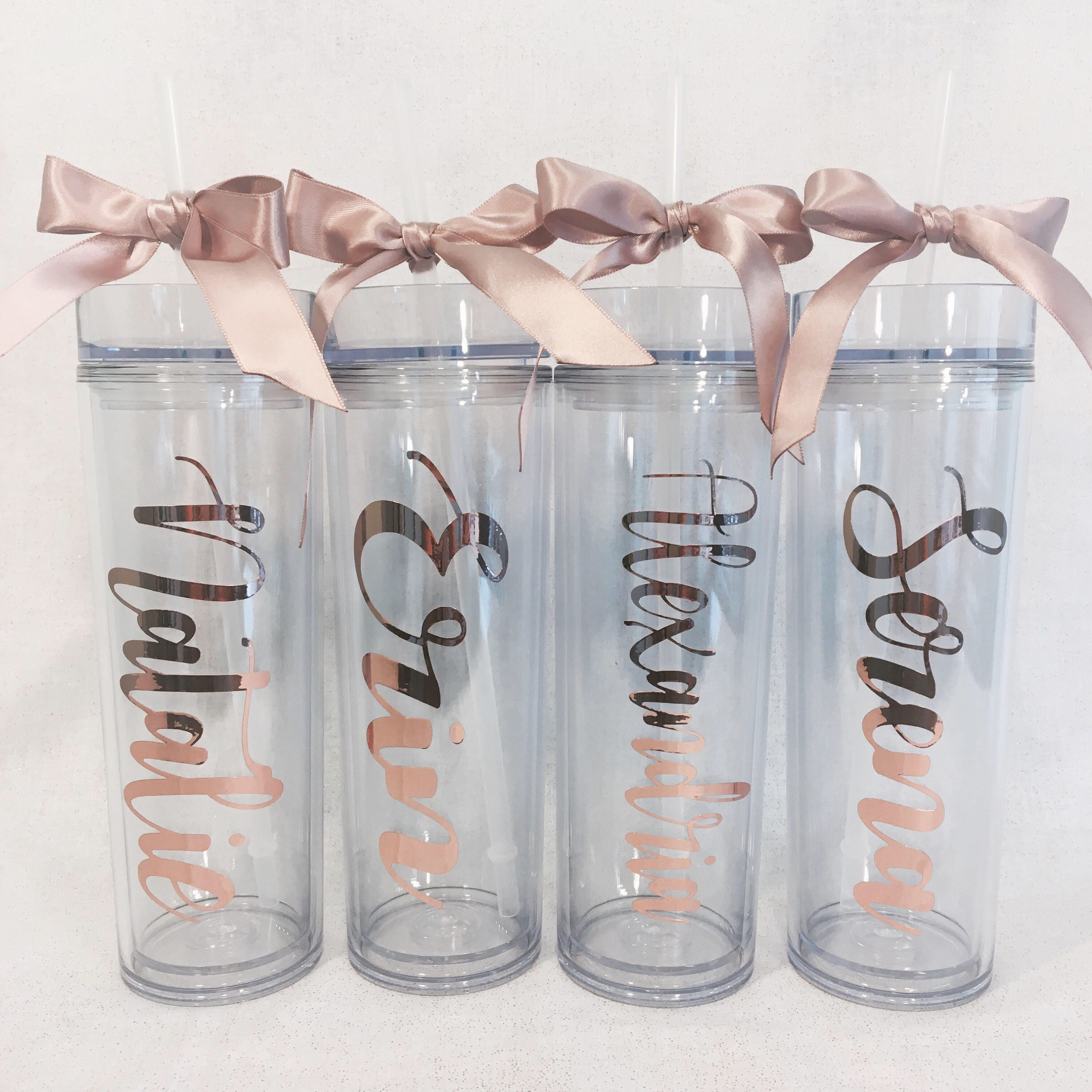 Personalized Tumbler Water Bottles | Includes Straw & Bow ...