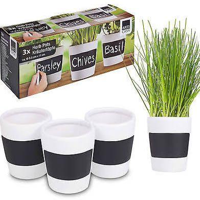 chalkboard herb planter - Google Search