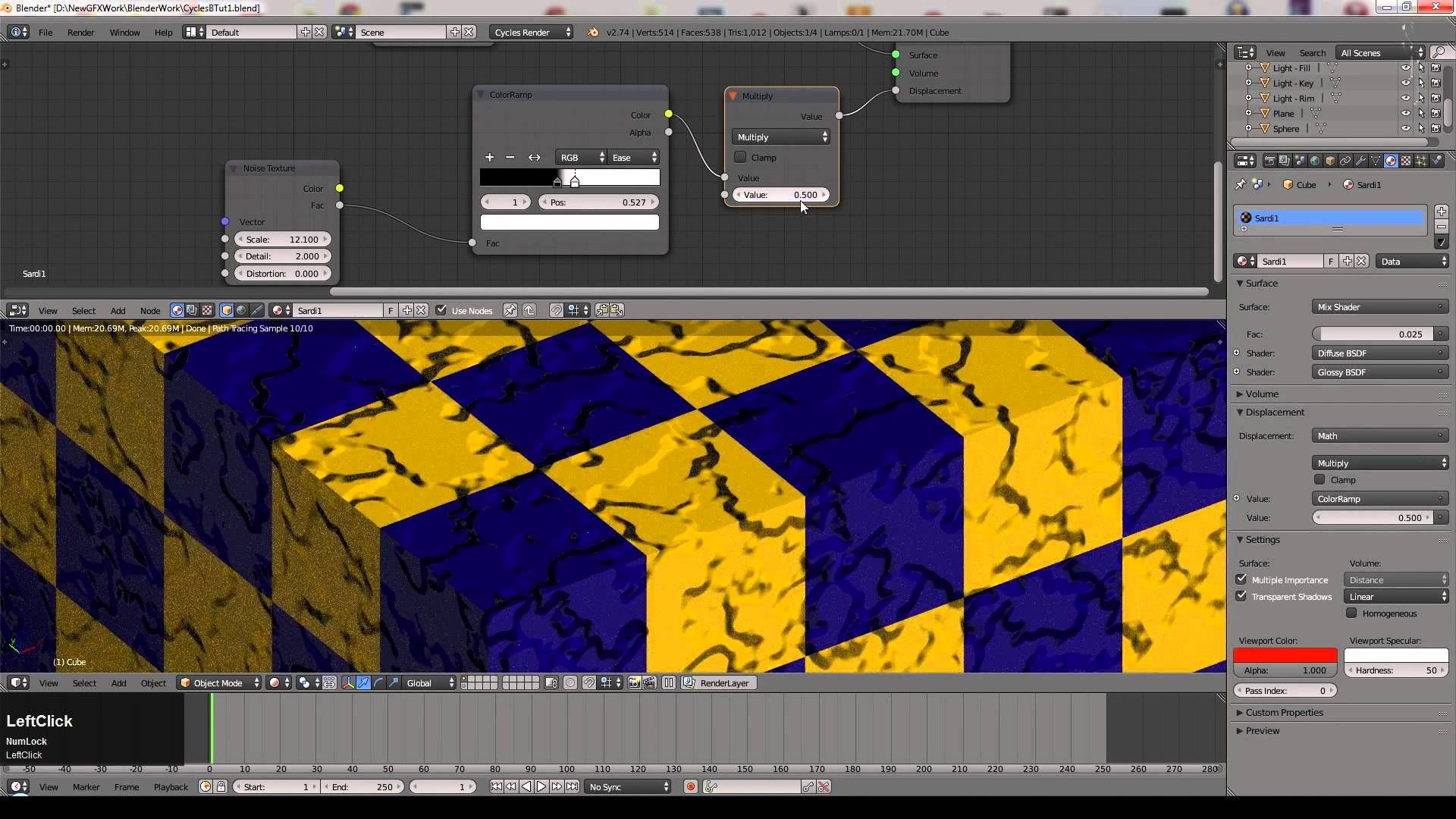 Blender Tutorial A Sample Of Cycles Materials Blender Tutorial Tutorial Blender