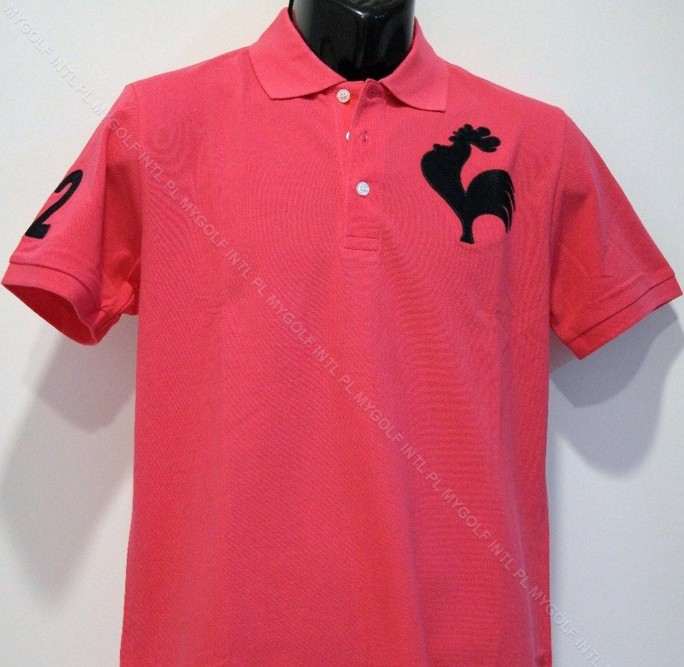 41a653d2fb LE COQ SPORTIF POLO DARK PINK WITH BIG ROOSTER AT SGD89. See more at  www.mygolf.com.sg