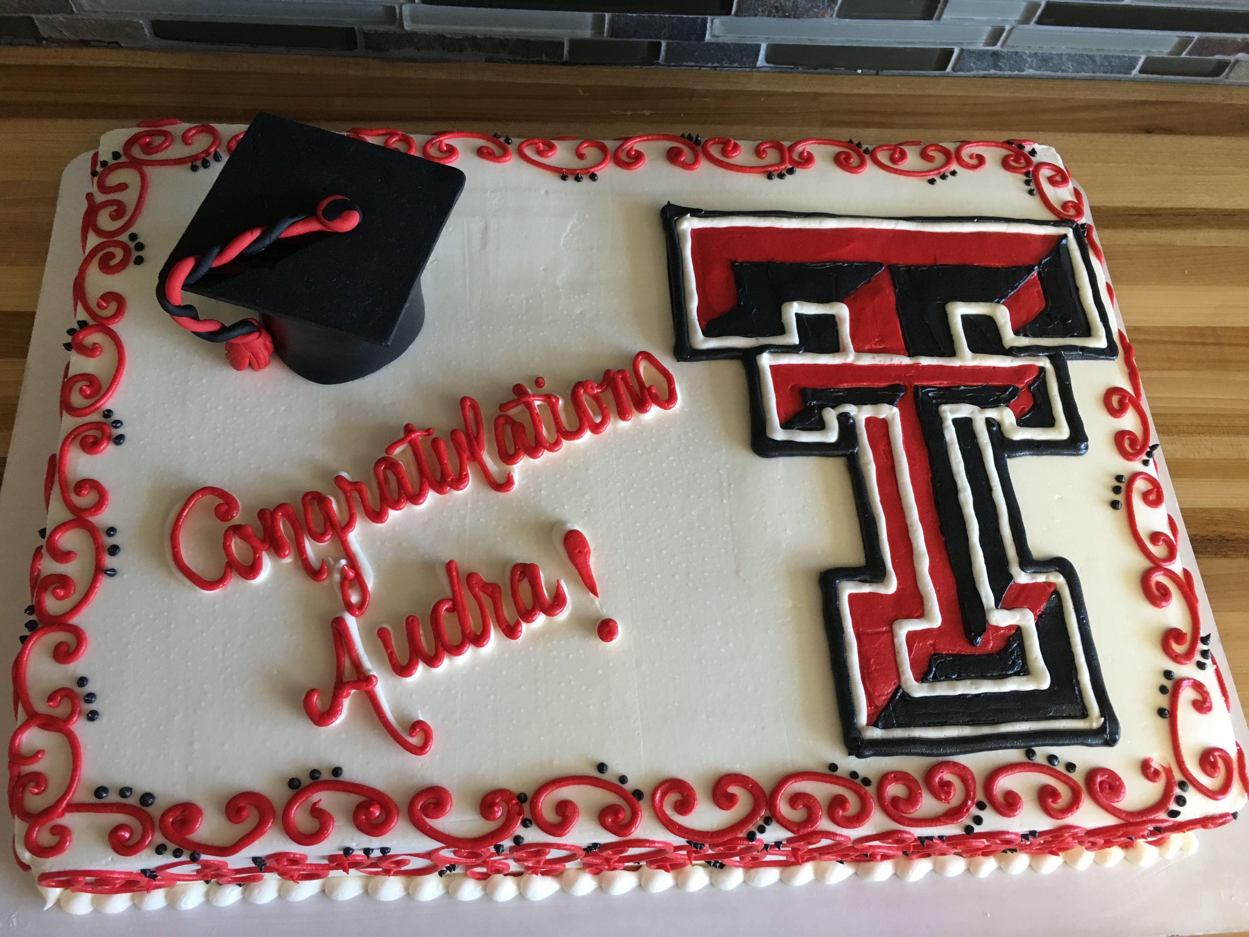 Ttu Graduate School >> Graduation Cake Texas Tech Graduation Cakes Texas Tech Cake