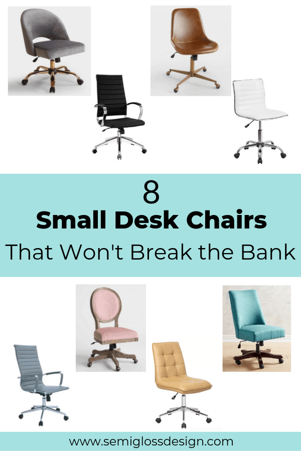 Narrow Office Chairs That Won T Break The Bank Semigloss Design Small Desk Chairs Desk Chair Comfy Affordable Office Chairs