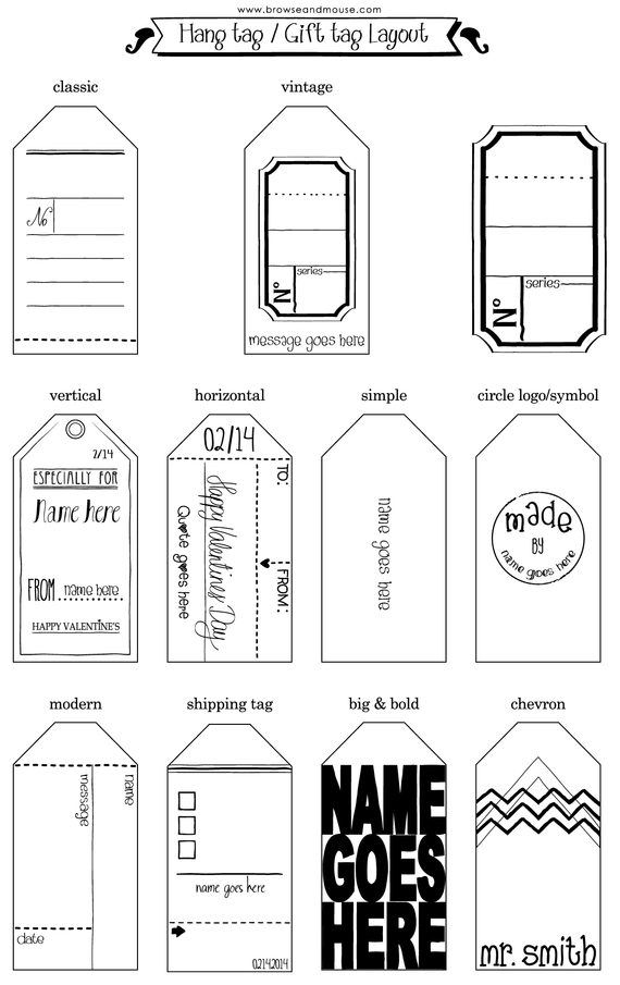Tag Design Inspirations Create Beautiful Gift Tags  Hangtags