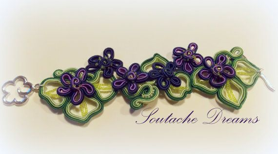 Blue Green Beautiful Bracelet Spring Flowers For by SoutageDreams