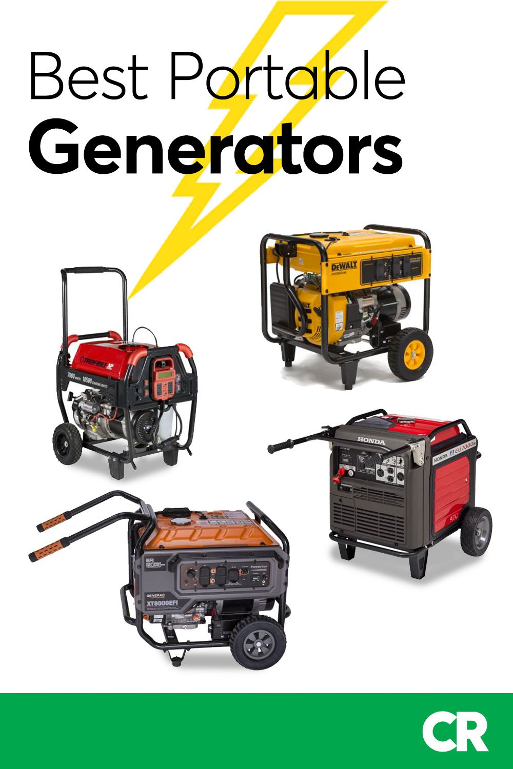 Best Portable Generators From Consumer Reports Tests Best Portable Generator Portable Generators Generation
