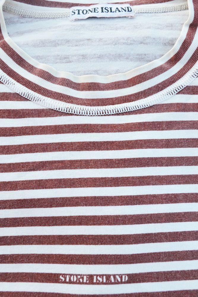 Image Of Vintage 90 S Stone Island Nautical Striped T Shirt Stripe Tshirt Stone Island Striped