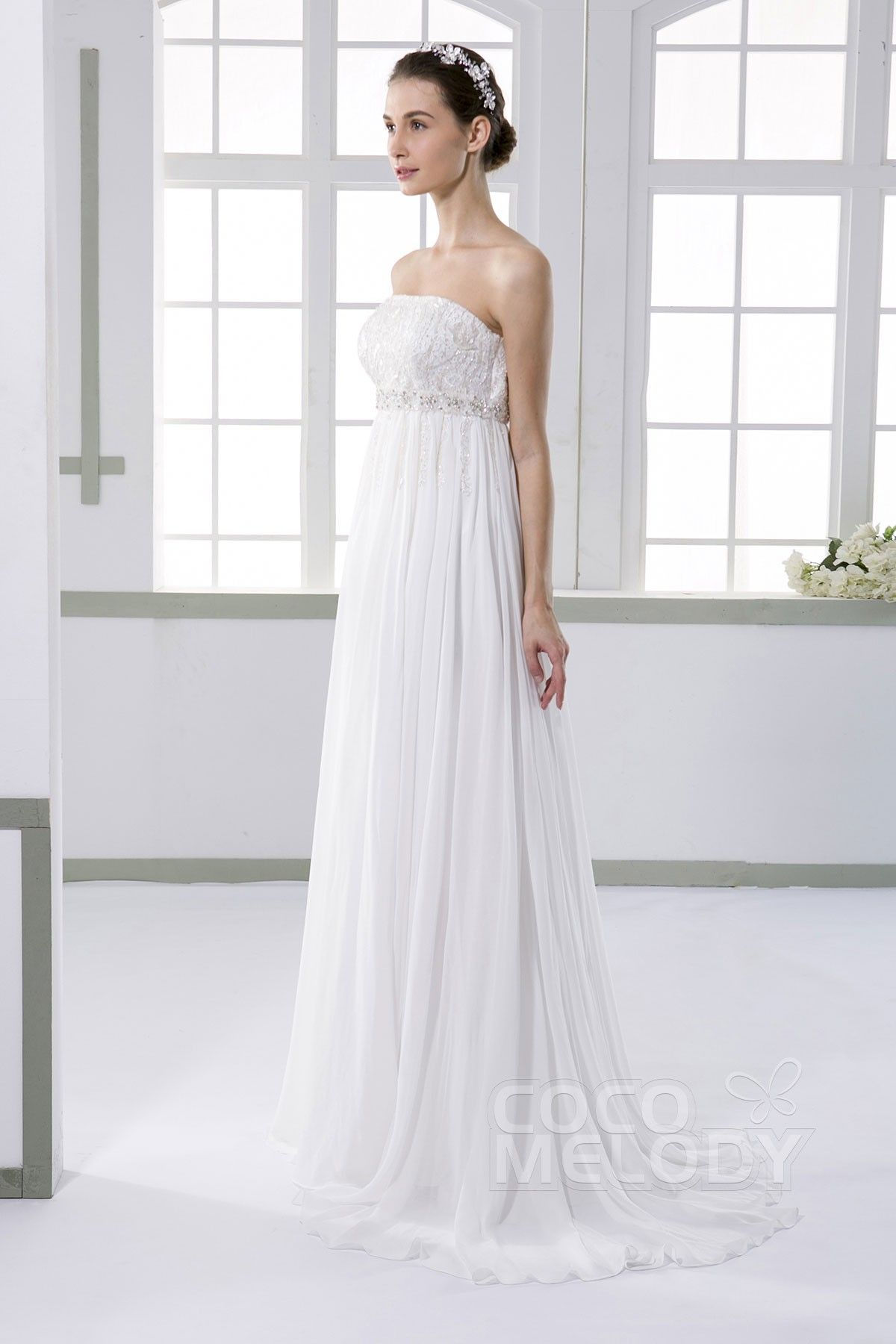 Strapless Empire Wedding Dresses
