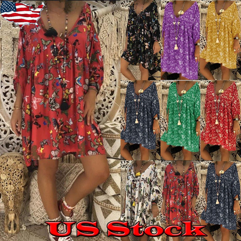 c0079dc6c36 Plus Size Women Off Shoulder Cocktail Evening Party Short Mini Dress New L- 6XL -