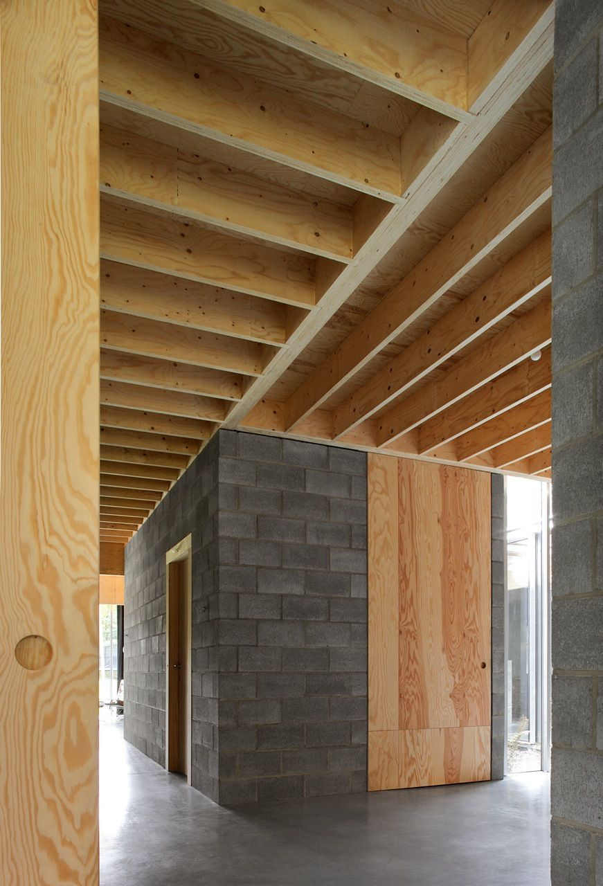 Ono architectuur woning waasmunster interior design - Interior cinder block wall ideas ...