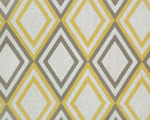 "Annie  Corn Yellow/  Kelp Linen     Pattern Information:  4 1/8"" Width by 6 1/4"" Height     Linen Fabric:  87% Cotton - 13% Rayon"