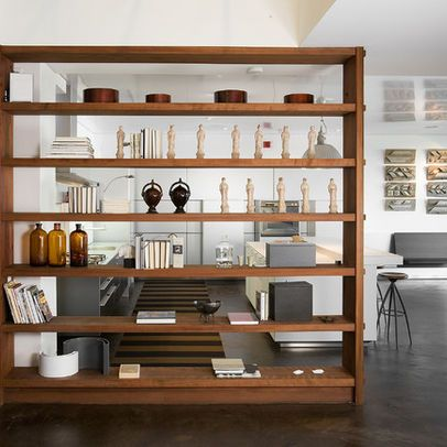 Bookcase Room Divider See Through Design Pictures Remodel Decor