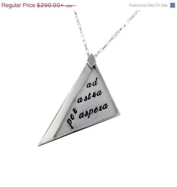 Triangle Necklace Geometric Pendant on Silver Chain