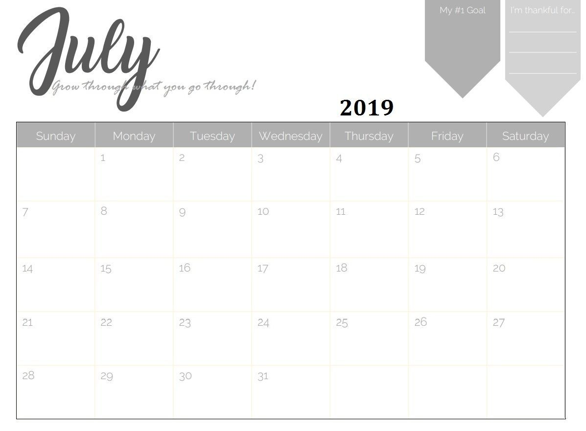 Monthly Desk Calendar 2019 Printable With Images Printable