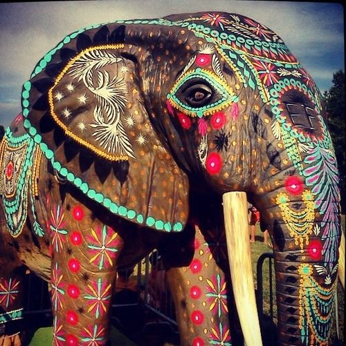painted indian elephant wallpaper - photo #6