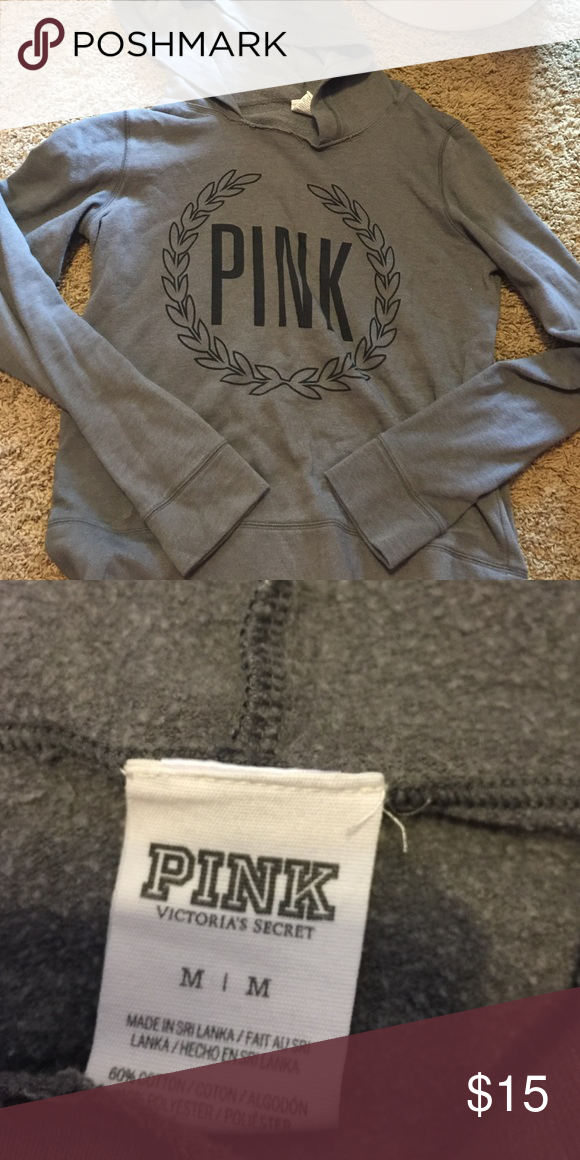 VS PINK hoodie Like new. PINK Victoria's Secret Tops Sweatshirts & Hoodies