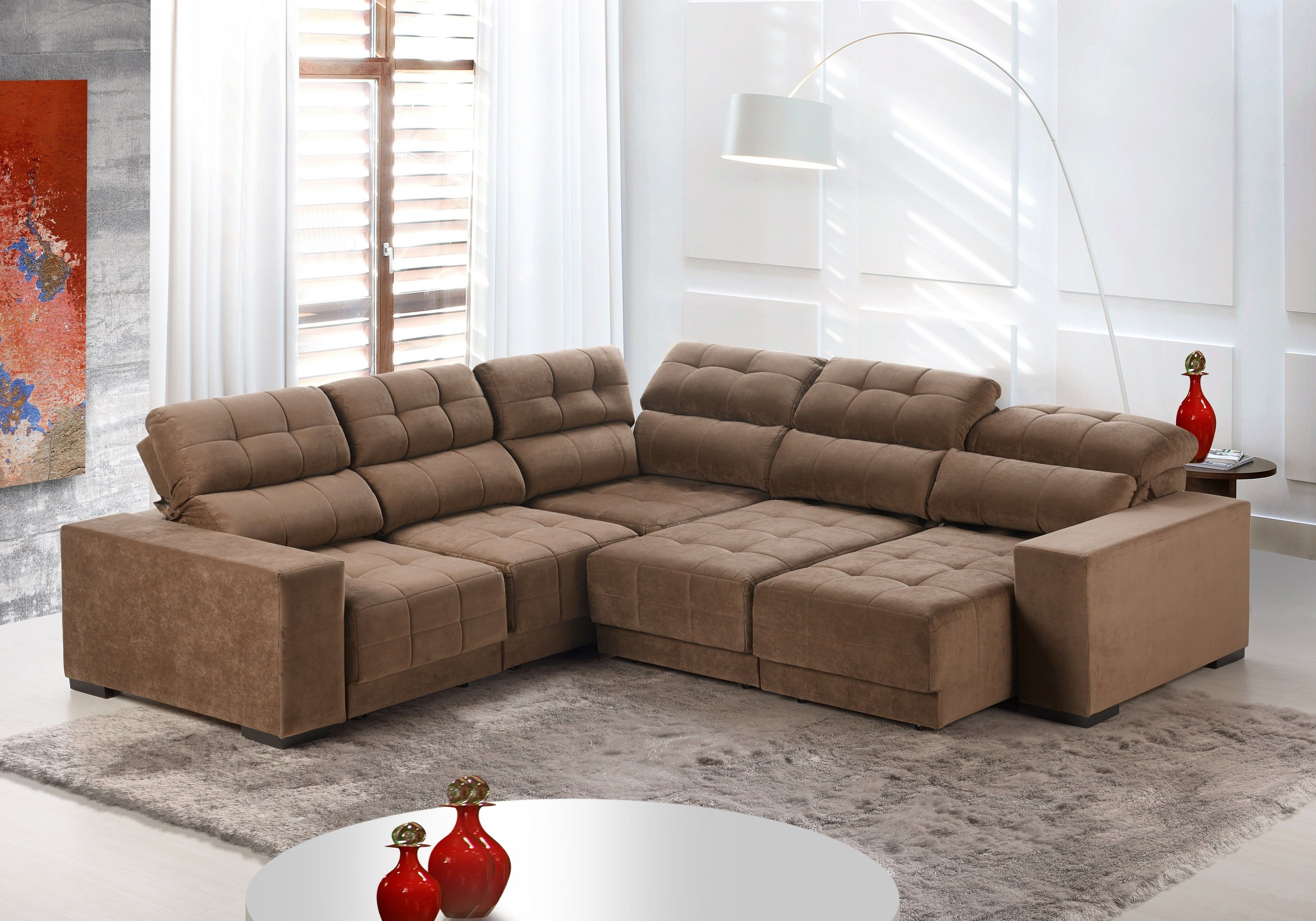 Sof de canto 6 lugares retr til e reclin vel essense for Sofa 03 lugares retratil e reclinavel