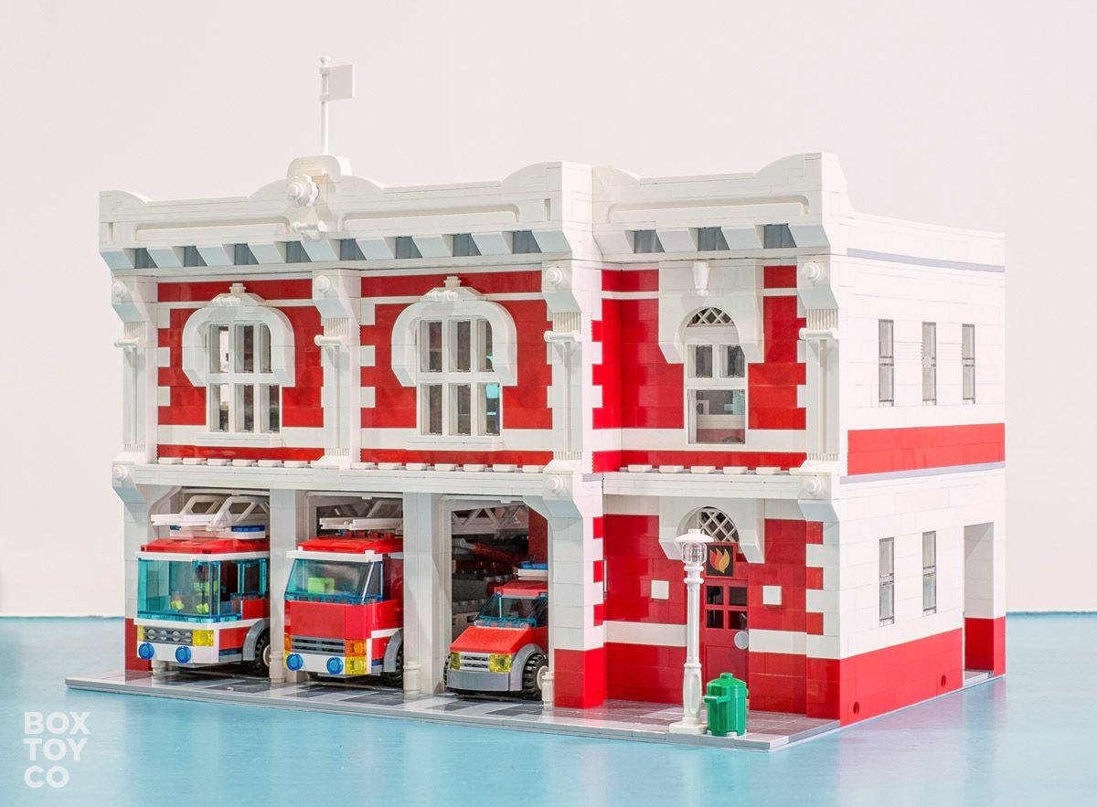 Classic LEGO Fire Station MOC Modular