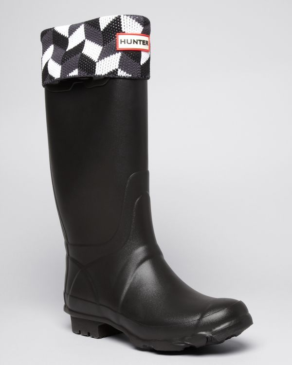 Hunter Welly Socks - Geometric Dazzle | Products | Pinterest ...