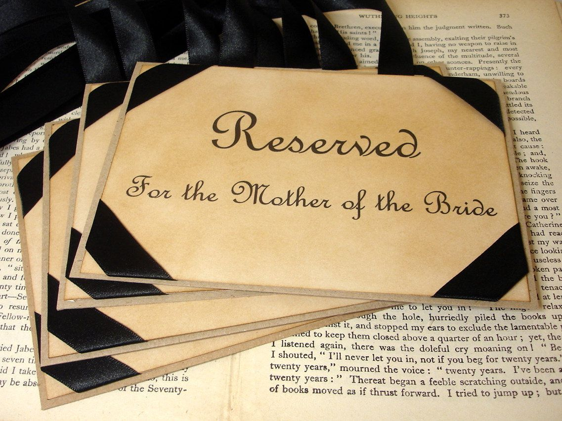 Decorated Reserved Seat Places For Ceremony For Immediate Family Groomsmen And Bridal Party