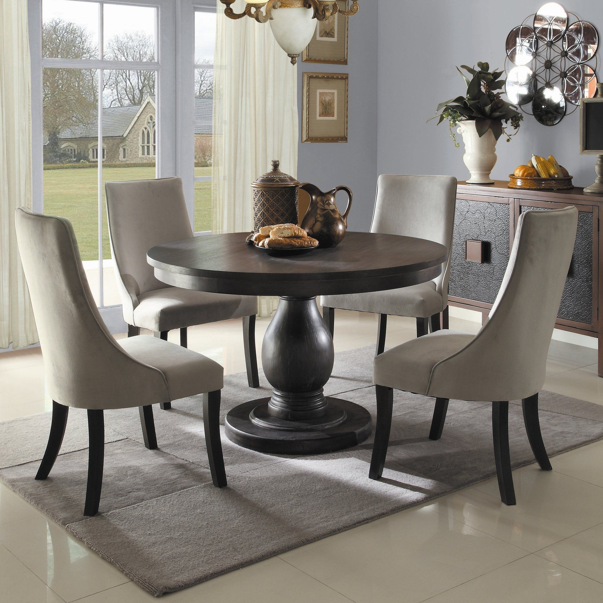 Round pedestal kitchen table and chairs argharts