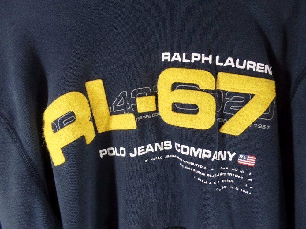 Polo Co Blue Lauren Hooded Sweatshirt Vintage Ralph 67 Rl Jeans 1lFcJK