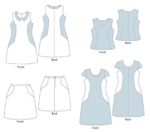 Philippa dress, top and skirt – Muse Patterns