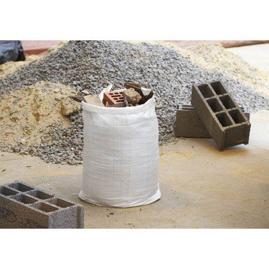 Lot De 5 Sacs à Gravats Réutilisable Geolia 70 L Sac Et