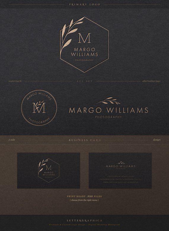 Conception de Logo premade, photographie Logo, Logo personnalisé, Kit de marque, Logo et filigrane, paquet, filigrane, Logo minimaliste, Logos de marque