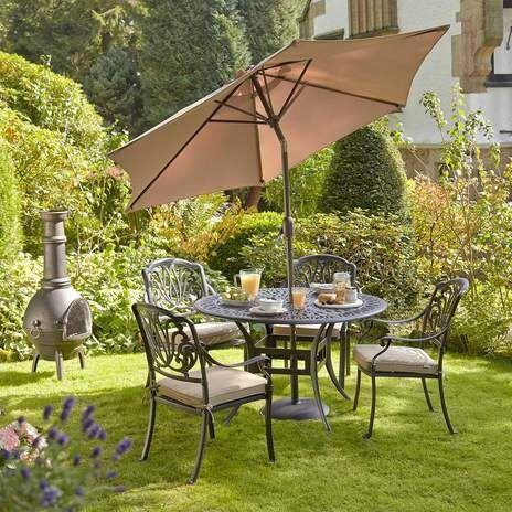 Garden Furniture 4 Seater mortimer 4 seater garden furniture set | wyevale garden centres