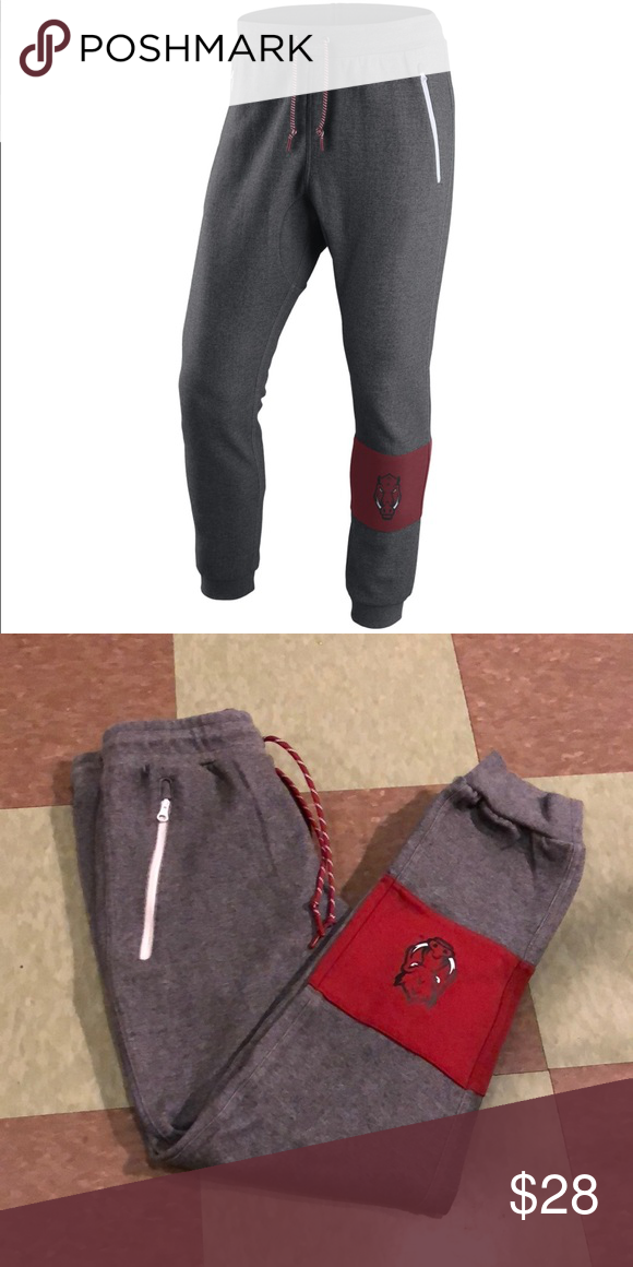 Shop Women's Nike Gray Red size S Track Pants & Joggers at a discounted  price at Poshmark. Description: Like new condition.